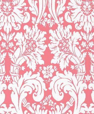 Tillett Textiles Floral Damask Sorbet
