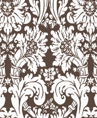 Tillett Textiles Floral Damask Cocoa