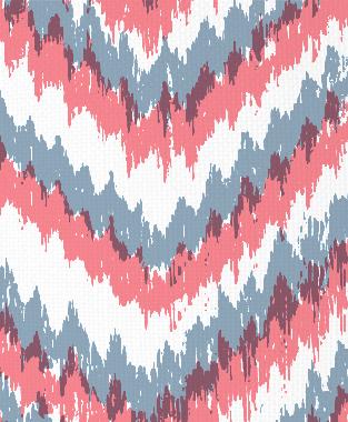 Tillett Textiles Ikat Timer JD Blue & Sorbet