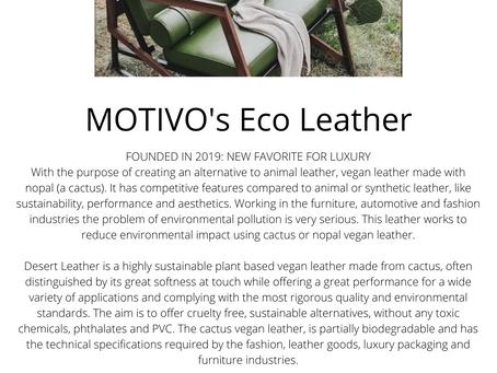 MOTIVO's Eco Leather