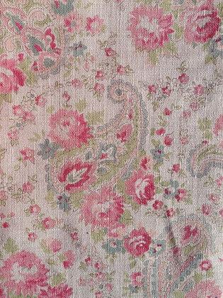 Sarah Hardaker Vintage Paisley Pink on Natural
