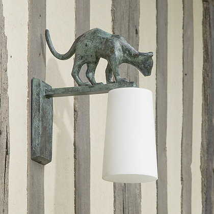 Lola Outdoor Wall Lamp Green Bronze