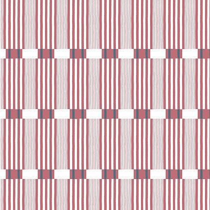 Stoke Lane Check Stripe Rouge
