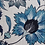 Thumbnail: FLORAL SCROLL Blue UK Natural Linen