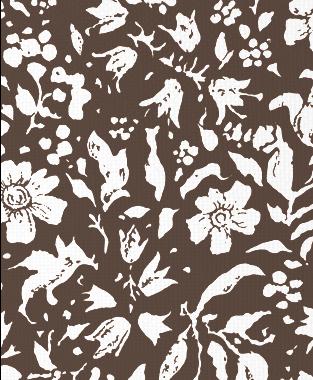 Tillett Textiles Wild Flower Blotch Cocoa