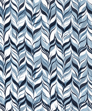 Tillett Textiles Watermarks JD Blue, Sky & Navy
