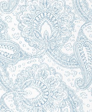 Tillett Textiles Paisley Envinced Sky