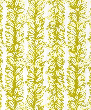 Tillett Textiles Leaves a Scrollin Charteuse