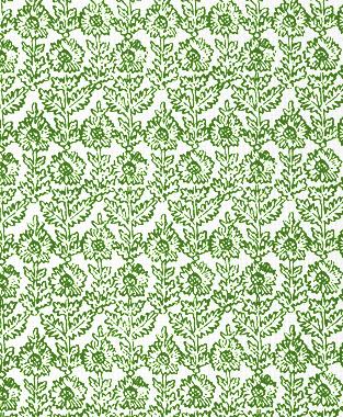 Tillett Textiles Sunflower Woodcut Forest Green