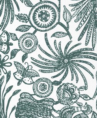 Tillett Textiles Ixtaplauca Deep sea