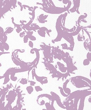 Tillett Textiles Painted Paisley Violet