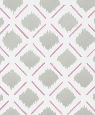 Tillett Textiles Chit Chat Lines Pink Pansey & Sea Haze