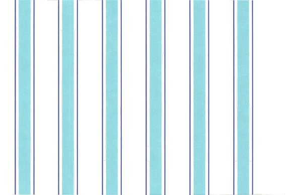 Mally Skok Indian Stripe Wallpaper Turquoise/Blue