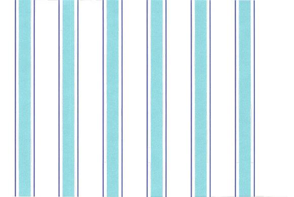 Mally Skok Indian Stripe Wallpaper Turquoise/Blue