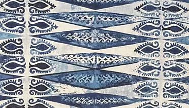 ZIG ZAG MINI Indigo UK Natural Linen