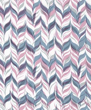 Tillett Textiles Watermarks Pink Pansey, Metallic Silver & JD Blue