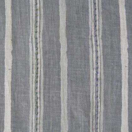 Nichola Taylorson Dabu Stripe Ash Grey Emb