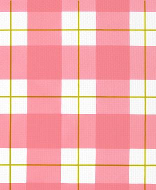 Tillett Textiles Burton Plaid Charteuse & Sorbet