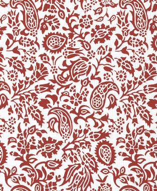 Tillett Textiles Flora Devonshire Deep Coral