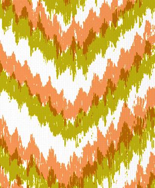 Tillett Textiles Ikat Timer Charteuse & Carrot