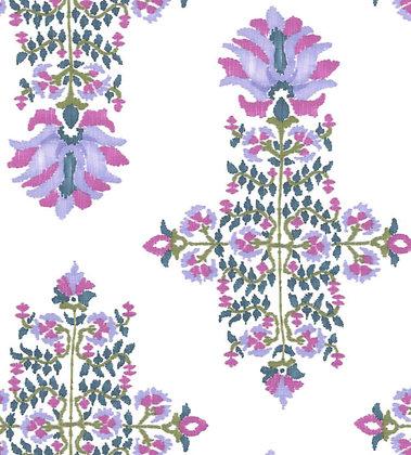 Ferran Textiles Lotus Blossom Lilac