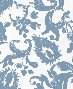 Tillett Textiles Painted Paisley JD Blue