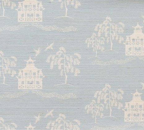 CASA BY P.C. Spring Pagoda Grasscloth in Sky