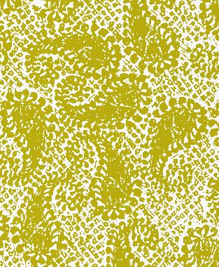 Tillett Textiles Paisley Patch Charteuse