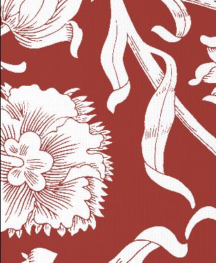 Tillett Textiles Alexandria Deep Coral