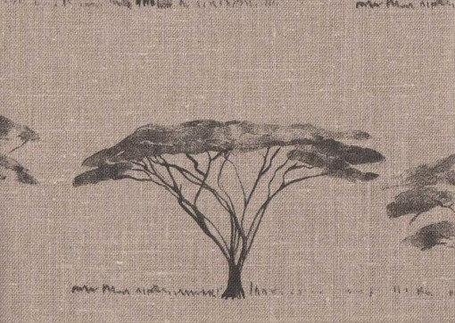 Mally Skok Botswana Trees Charcoal on Flax