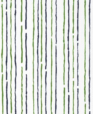 Tillett Textiles Sumac Lines Forest Green & Navy