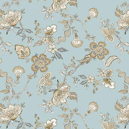 Leigh Floral Duckegg Tan