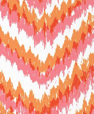 Tillett Textiles Ikat Timer Sorbet & Carrot