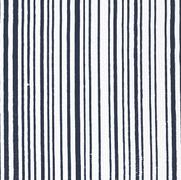 Mini Stripe Navy on White