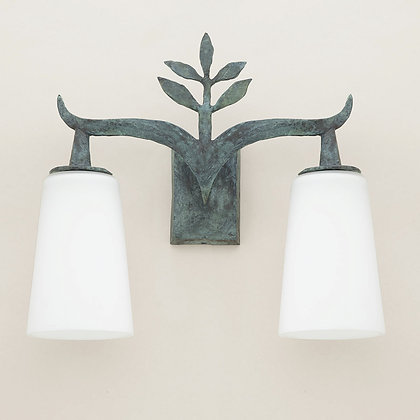 Alia Outdoor Wall Lamp Green Bronze