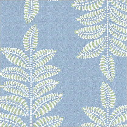 Ferran Textiles Wallpaper Chiswick Fern Royal