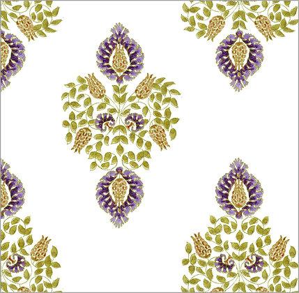 Ferran Textiles Wallpaper Argos Aubergine
