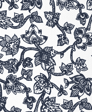 Tillett Textiles Sumatra Navy