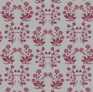 Mughal Foral Stripe Berry Oyster