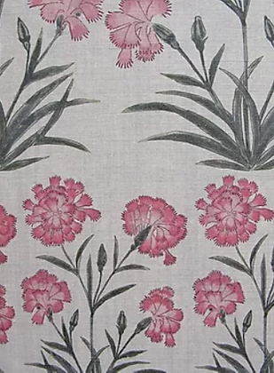 MUGHAL MEADOW MINI Pink UK Natural Linen