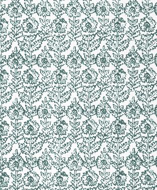 Tillett Textiles Sunflower Woodcut Deep sea