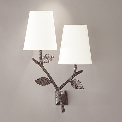 Flora double wall lamp Bronze