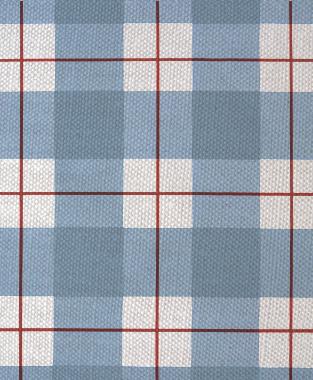 Tillett Textiles Burton Plaid Deep Coral & JD Blue