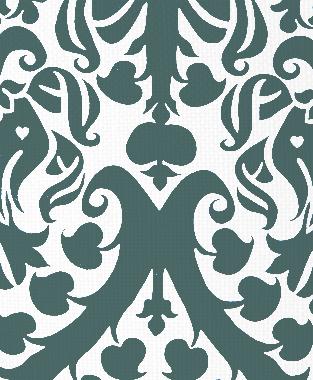 Tillett Textiles Millerton Damask Deep sea