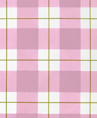 Tillett Textiles Burton Plaid Forest Moss & Pink Pansey