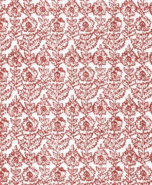 Tillett Textiles Sunflower Woodcut Deep Coral