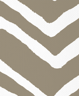 Tillett Textiles Ikat Chevron Putty