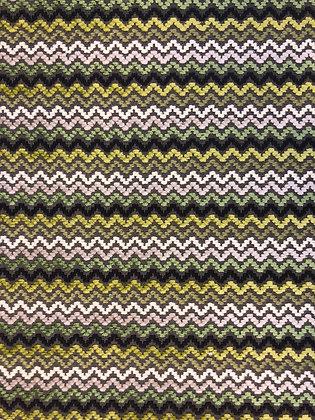 Romo Green ZigZag Fabric
