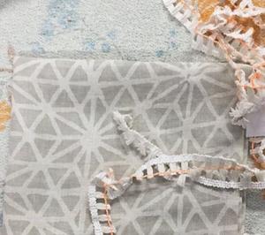hand screened fabric