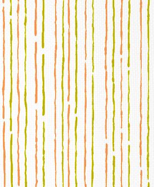 Tillett Textiles Sumac Lines Charteuse & Carrot